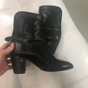 Chanel ankle booties
